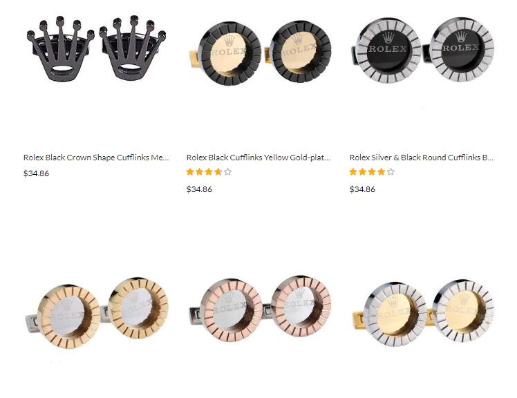 replica rolex high-end cufflinks sale
